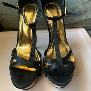 Shoedazzle - Heels - Black/Gold